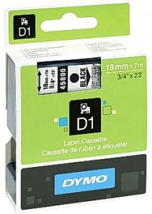 Dymo Tape D1 19mm svart på klar