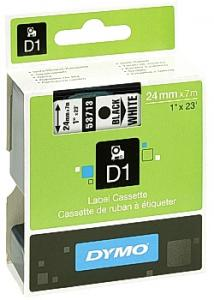 Dymo Tape D1 24mm svart på vit