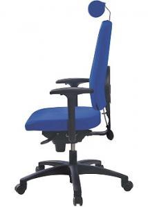 LANAB DESIGN Kontorsstol LD6340 blå utan svankstöd