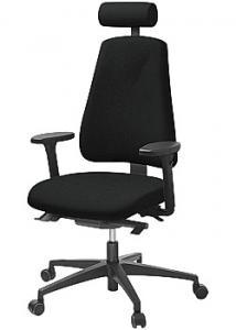 LANAB DESIGN Kontorsstol LD6340 svart u svankstöd