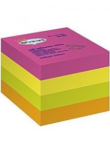 Notes kub 76x76 mm rainbow 400bl (block om 400 blad)