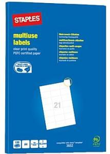 Etikett 70x42,3mm (fp om 2100 st)