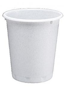 Durable Papperskorg Basic rund 13L vit