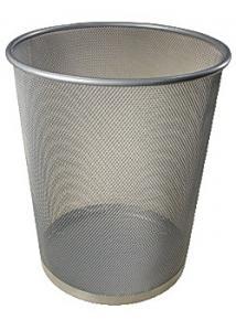 Papperskorg trådmetall 15L silver