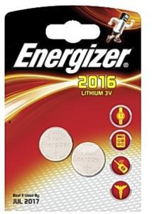 Energizer Batteri, miniatyrceller av litium CR2016, ej laddningsbara, blisterförpackning med 2 (fp om 2 st)
