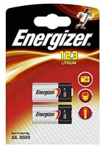Energizer Batteri Lithium Foto 123 (fp om 2 st)