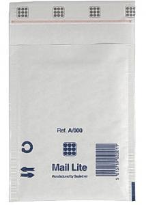 Mail Lite® Bubbelpåse 110x160mm vit (fp om 100 st)