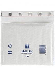 Mail Lite® Bubbelpåse CD 180x160mm vit (fp om 10 st)