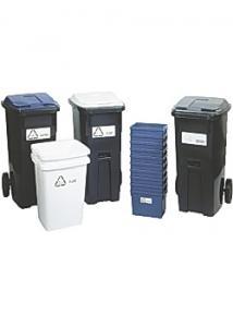 Återvinningsbehållare grönt lock 190L