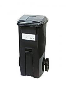 Återvinningsbehållare grått lock 190L