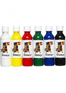 ARDA Glasyr färg för lera 250mlx6 färger (fp om 6 st)