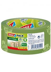 tesa® Packtejp Eco Strong 66mx50mm green (rulle om 66 m)