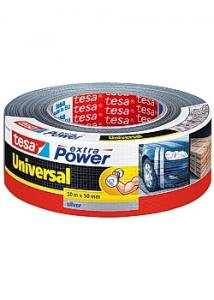 tesa® Tape väv 50mmx50m silver (rulle om 50 m)