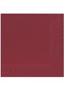 Duni Servett 3-lags 33x33cm vinröd (fp om 125 st)