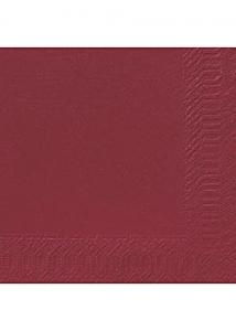 Duni Servett 3-lags 40x40cm vinröd (fp om 125 st)