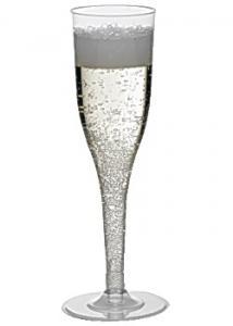 Plastglas champagne lös fot 13,5cl (fp om 12 st)