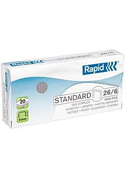 Rapid Häftklammer 26/6 standard (fp om 5000 st)