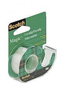 Scotch® Dokumenttejp 7,5mx19mm m.hållare (rulle om 7.5 m)