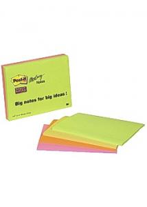 Post-it® Notes SS Meeting Notes 149x98mm (fp om 4 block)