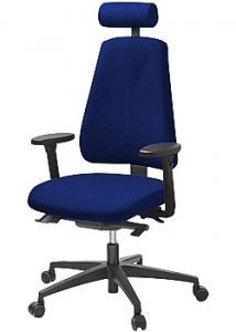 LANAB DESIGN Kontorsstol LD6340 Deluxe blå u svankst