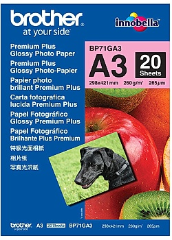 Brother Fotopapper BP71 A3 260g (fp om 20 blad)