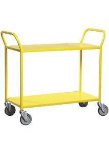 Bordsvagn 2 hyllplan gul
