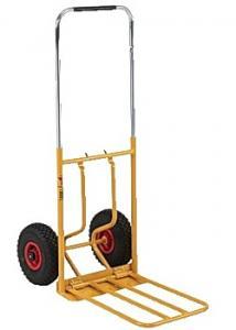 Magasinkärra hopfällbar stora hjul gul