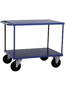 Bordsvagn för utomhusbruk 2 hyllplan blå