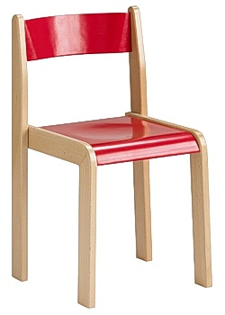 Barnstol Kulör sitthöjd 30cm röd