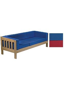Skolsoffa Komfort 2 sits blå