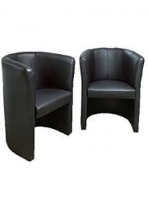 Fåtölj Club läder svart