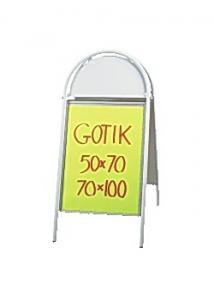 Gatuställ Gotik 50X70cm vit
