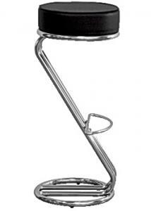 Barstol svart/krom (fp om 2 st)