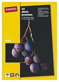 Fotopapper Prem+ A4 matt (fp om 25 blad)