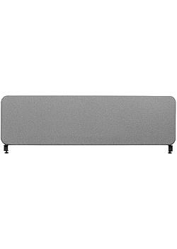 Bordsskärm Softline 45x80 cm grå