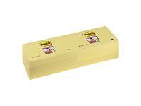 Post-it® Notes Super Sticky 76x127mm gul. (fp om 12 x 90 blad)
