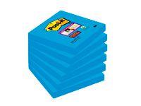 Post-it® Notes Super Sticky 76x76mm blå (block om 90 blad)