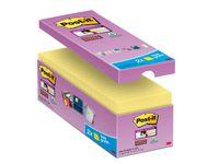 Post-it® Super Sticky 76x76mm gul (fp om 16 block)