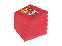 Post-it® Notes Super Sticky 76x76mm röd (block om 90 blad)