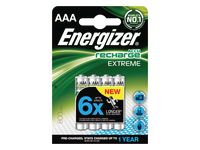 Batteri Laddbar ENERGIZER AAA Extreme(4)
