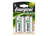 Batteri Laddbar ENERGIZER D HR20 2/FP