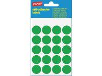 Etikett  19mm grön färgsign100/FP
