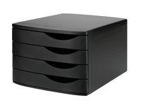Blankettbox JAMELA 4 lådor ECO svart