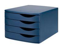 Blankettbox JAMELA 4 lådor ECO blå