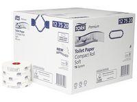 Toalettpapper TORK T6 2-lag vit