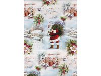 Julpapper 57cmx154m White Christmas