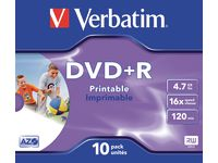 DVD+R VERBATIM 4.7GB Print Jewel 10/FP