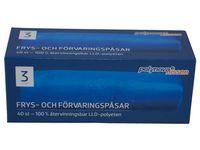 Polynova Frys- och förvaringspåse LLD 3L (fp om 40 st)