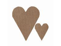 Etiketter Hjärtan kraft 26 x 42mm
