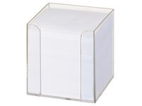 Blockkubhållare m.refill vit 90x90x90